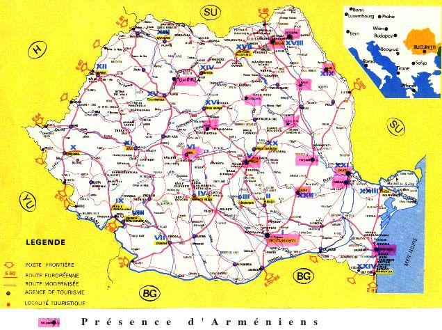Carte Roumanie Villes.Acam Contacts Diasporas Roumanie